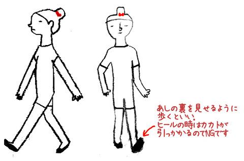 O脚 改善 歩き方