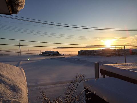 平野部 雲海 1月 大寒波のあと