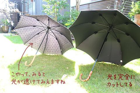 日傘 UVカット 効果    遮光率100 選び方 2