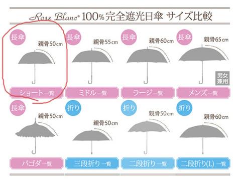遮光率100% 晴雨兼用 日傘 サイズが豊富