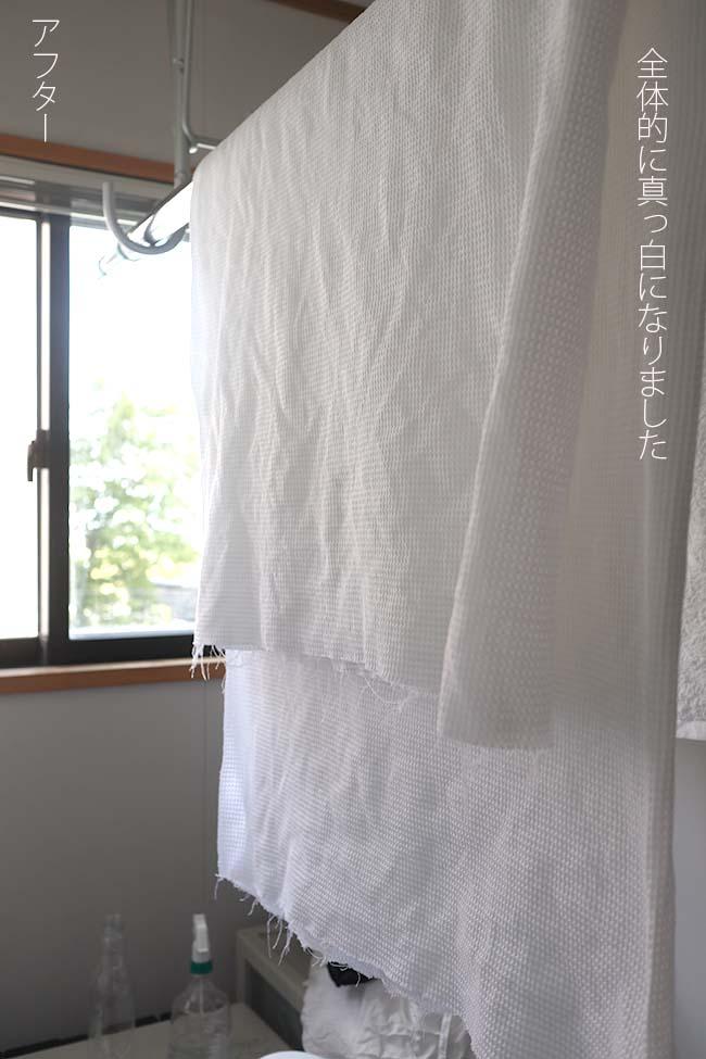 衣類 白い布 黄ばみ 汚れ 自宅で解消 ビフォーアフター2