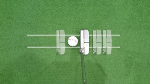 イーデルゴルフパターのストロークイメージ