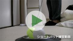 自宅でショートパット練習の動画