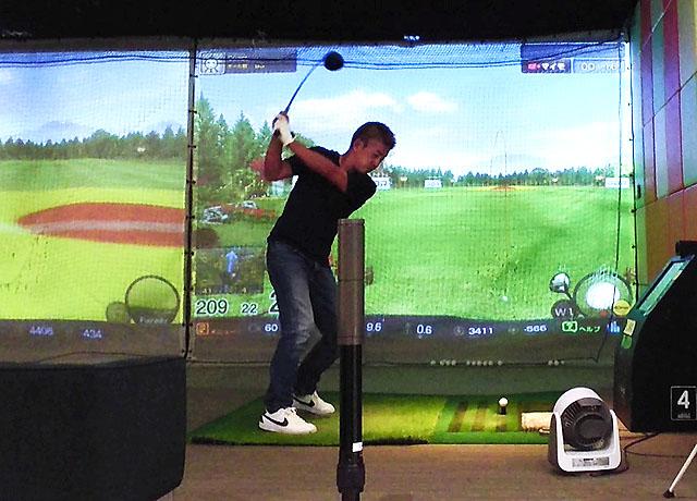 久しぶりのゴルフ練習