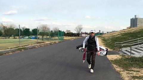 赤羽ゴルフ倶楽部練習ラウンドの帰り道