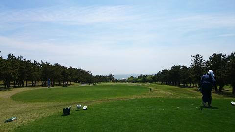 若洲ゴルフリンクスから臨む東京湾