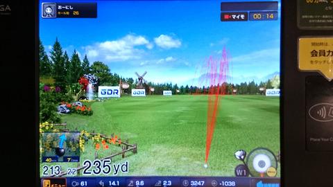 ドローボール練習中の弾道画像