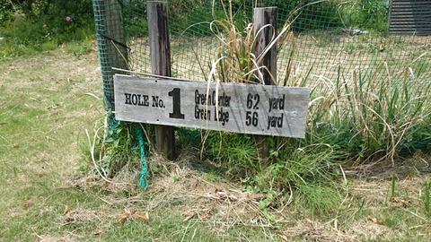 ジュンミニゴルフの距離表示