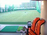 打席から見た練習場