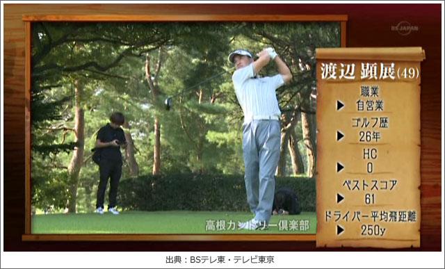 ゴルフ侍、渡辺顕展さんのプロフィール