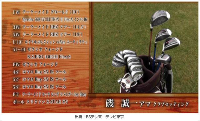 ゴルフ侍、見参!磯誠一さんのクラブセッティング