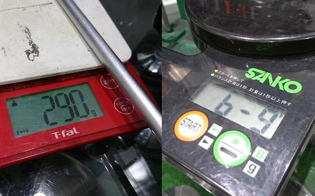 短尺ドライバーのスペック計測
