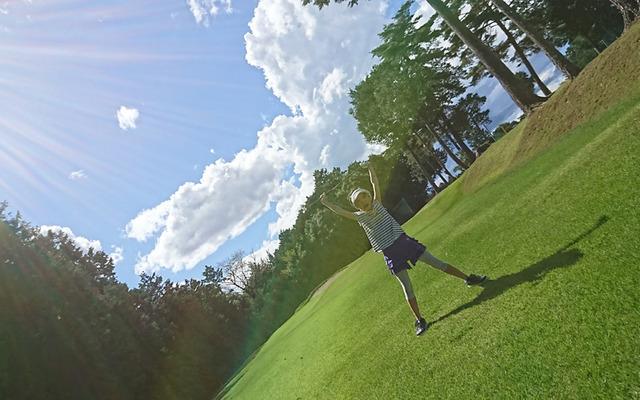 家族で芦刈ゴルフクラブへ