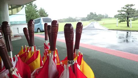 雨の若洲ゴルフリンクス