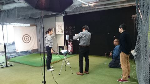 ETGA東京校の青山プロと取材の様子