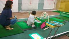 杏仁花のゴルフ練習