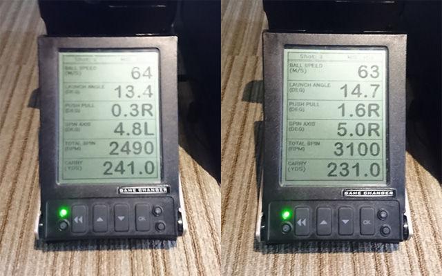 Z-STARドライバーでの計測比較結果