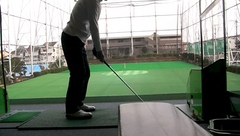 向原ゴルフセンターで練習