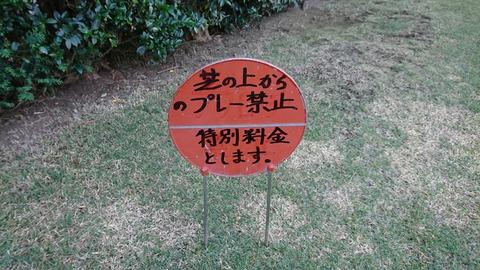 芝の上からのプレー禁止