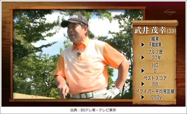 ゴルフ侍、見参!赤城国際・武井さん