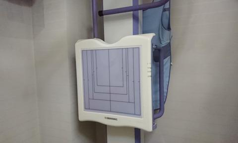 胸部をレントゲン撮影