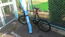 自転車で練習場に通う