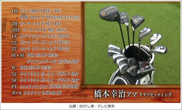橋本幸治さんのクラブセッティング【ゴルフ侍、見参!】