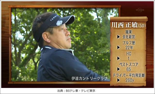 ゴルフ侍、川西正敏さん