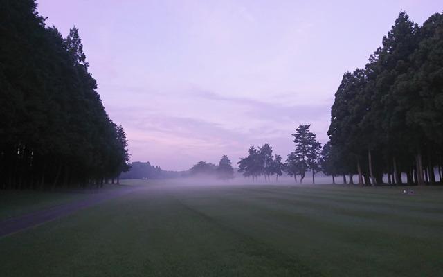 早朝アーリーバードスタート前の幻想風景