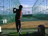 富士ゴルフリンクでスイング
