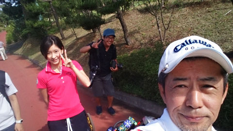 藤田美里さんと八千代ゴルフクラブにて