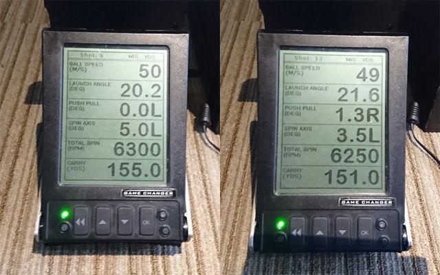 Z-STARアイアンショットでの計測比較結果