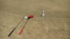 芦刈ゴルフでアプローチ練習