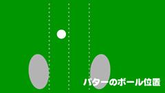 パターのボール位置