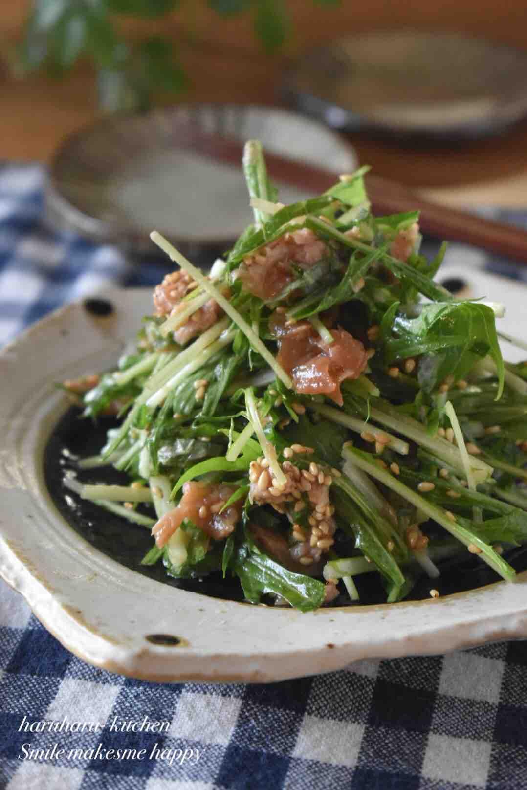 ツナ サラダ 水菜