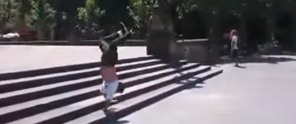 bboy Bobby vs stairs 2014