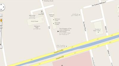 ミャンマー大使館地図1