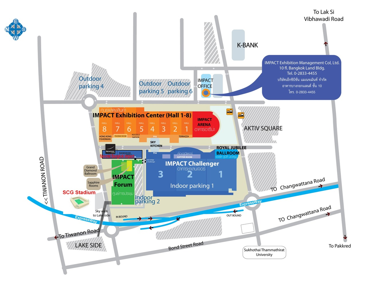 Novotel Bangkok Impact 地図 (SCG)