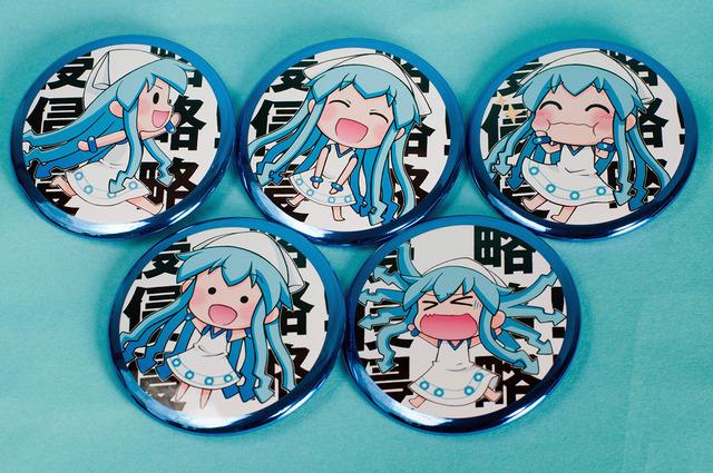 「侵略!娘」ガチャ缶バッジ 5種サンプル