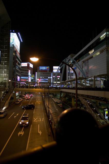 立川駅前の夜景