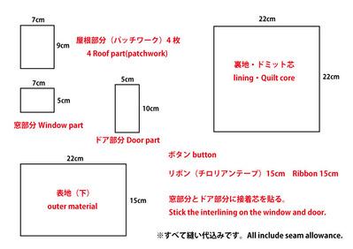 お家風鍋敷き型紙
