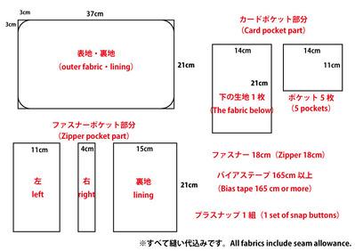 母子手帳・マルチケース型紙