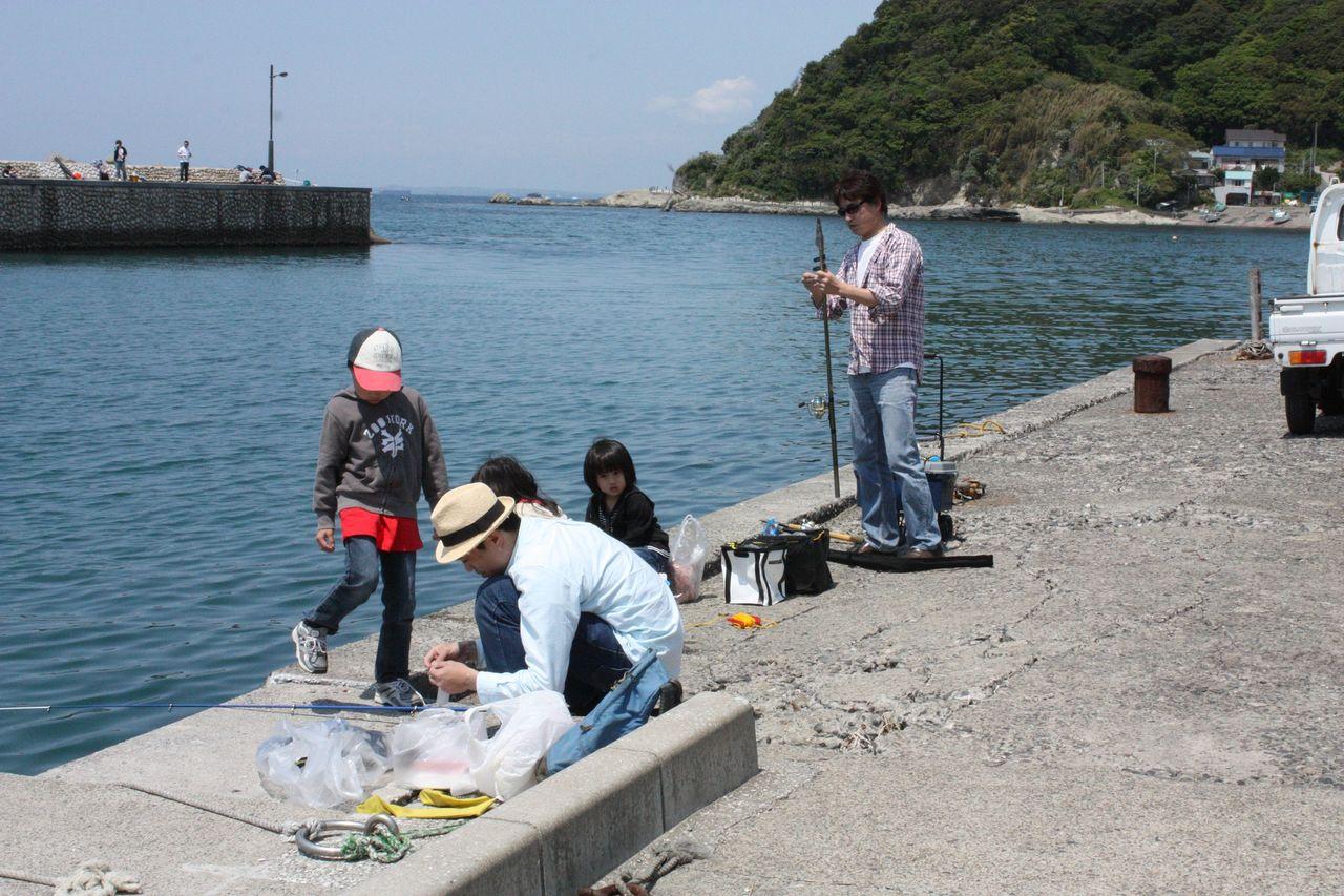 キャンプ 海 釣り