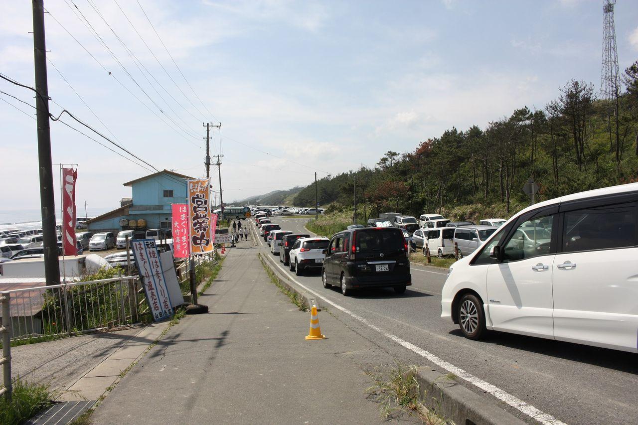 大竹海岸の駐車場