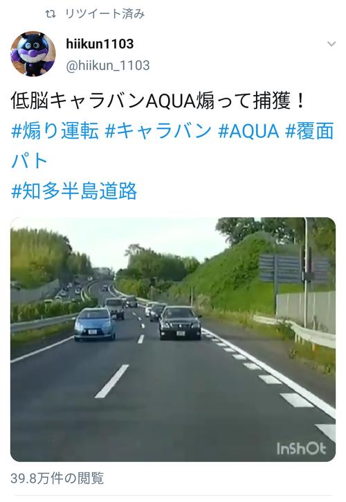【動画】煽り運転で覆面に捕まる瞬間をご覧ください。