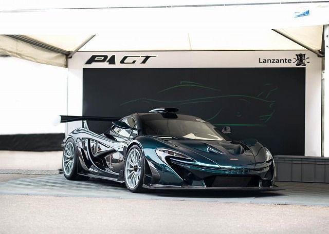 F1GTロングテールを復活させたマクラーレンP1GTがヒルクライムを走る