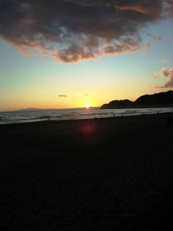 江の島夕焼け2