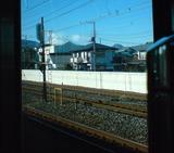 電車から見える富士山