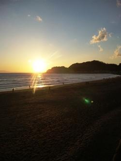 江の島夕焼け