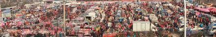 青島紅島的年貨市場